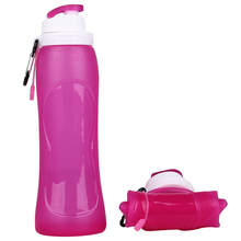 Kean Hot Selling Silicone Drinking Collapsible Water Bottle Foldable silicone drink bottles