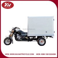 China closed cargo box 200cc air-cooled powerful china tricycle supplier supply 3 wheel tricycle