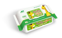 90PCS Thick Nonwoven Cotton Wipes Aloe Vera & Vitamin E Baby Wipes