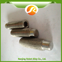 AL-6XN China supplier Hex socket set screw with flat point