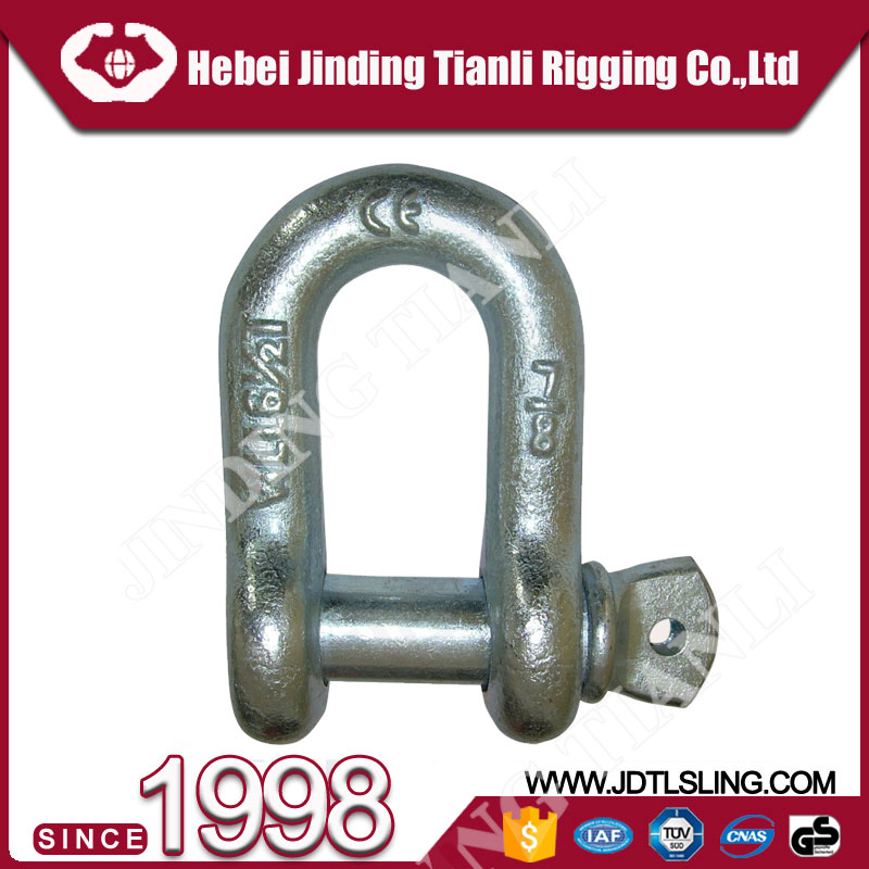 galvanized us type shackle rigging dee brass shackle crew pin bow shackle