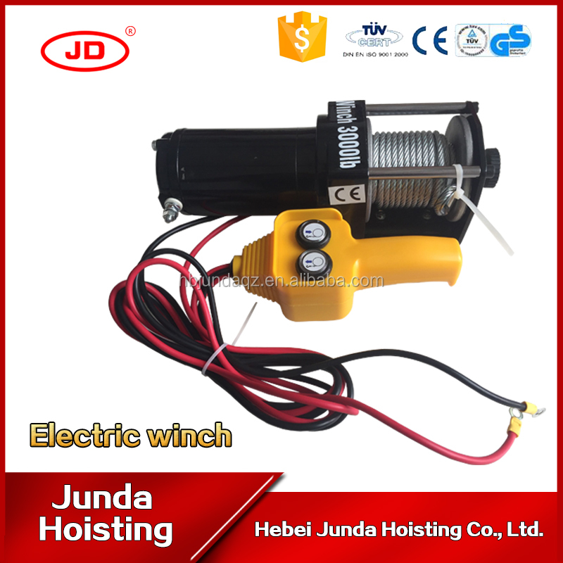 2000lbs 3000lbs 12v portable small electric capstan pulling winch