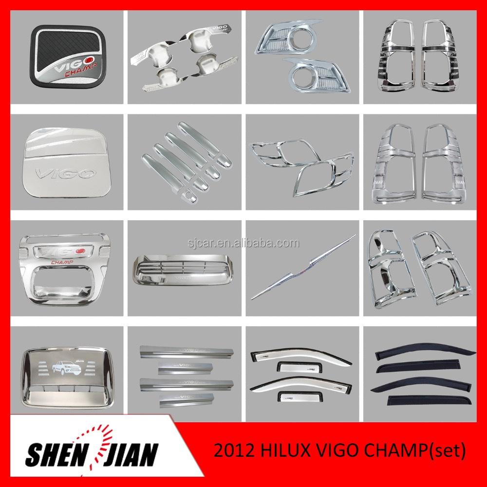 2012 Toyota HILUX VIGO CHAMP AUTO ACCESSORIES FOR WHOLESALE pickup parts by electric plating 4x4 accessories FULL SET CAR PARTS