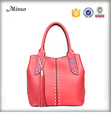8638- New designs luxury handbag Euro style ladies leather shoulder women genuine leather handbag