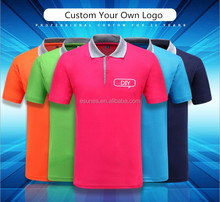 Wholesale Summer 180g T/C Lapel Collar Short Sleeve Custom Tee shirts