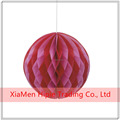 Valentine's day craft red and pink paper honeycomb ball decorations