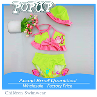 Top Selling Products Sexy Mermaid Tail Swim Printed Halter Kids Girls Bikini For 2015
