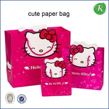Wenzhou factory happy birthday gift paper bag with hotstamping