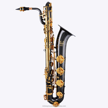MBS-506 black nickel baritone sax with golden key from China supplier
