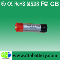 3.7v 800mah aa icr 14500 lithium ion battery rechargeable li-ion battery