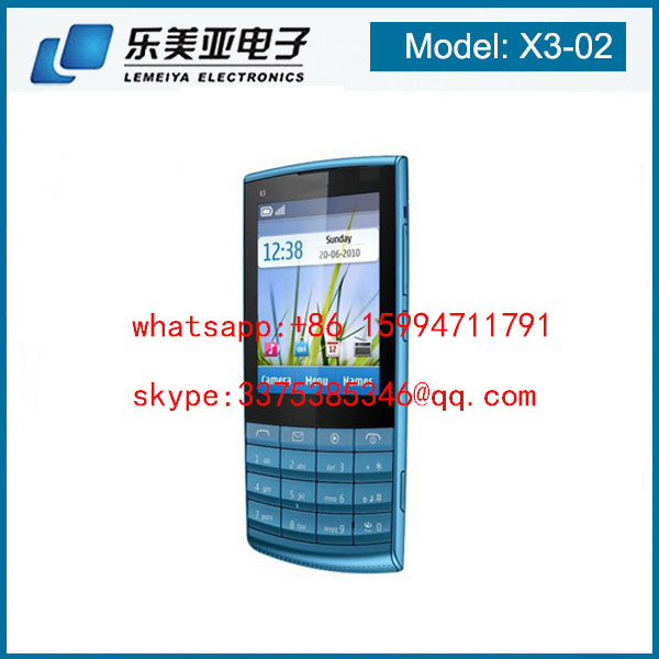 New Classic Touch and Type Unlocked cell Phone X3- 02 105 3310 White Silver 3G Mobile Phone