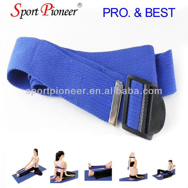 Cotton polyester belt Ladies stretch belts Yoga mat strap