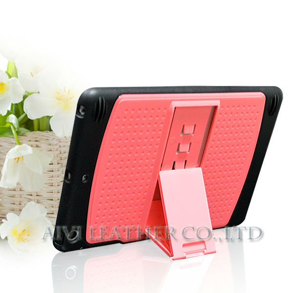 New rubber-oil coating case for Ipad Mini, for new ipad pc stand case