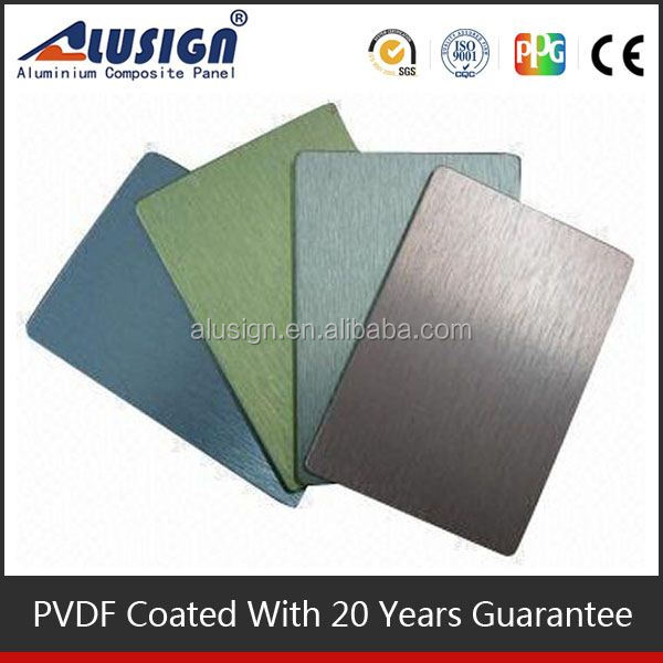 Alusign famous high light apricot aluminum composite plate panel superior quality acp sheet