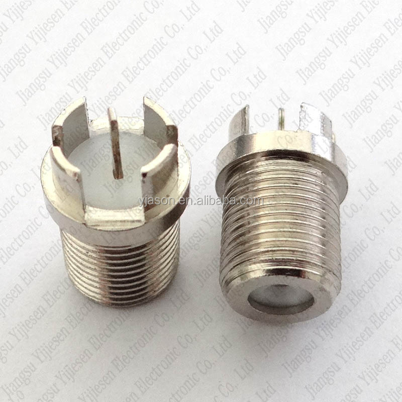 F Female Type Socket 75OHM Connector For PCB Mount F Type Female Jack Thru-hole PCB Panel Mount F Female Chassis Mount Plug