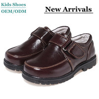 2014 new collection Guangzhou Factory OEM children leather school shoes boys leather flat shoes