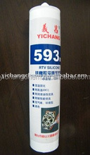 593 RTV Silicone Sealant black color used for general sealing and bonding