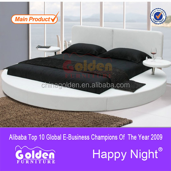 Ali baba new style adult bedroom set/ furniture round bed 6804