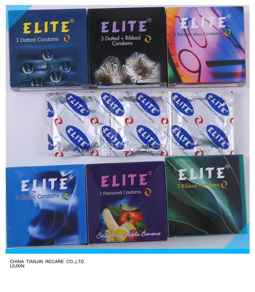 One of the best suppliers classic/dotted/ribbed/dot&rib/delay/flavour brand ELITE condom with 3pcs/box