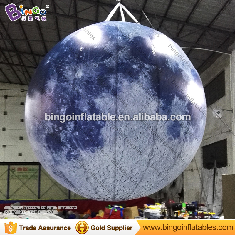 LED lighting inflatable full moon for wedding Photography wall