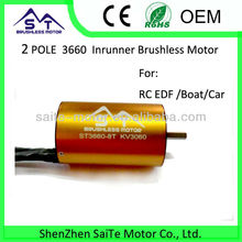 2-pole 3660 inrunner rc boat brushless motor 540 motor for rc boat callocate with water cooling jacket