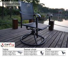 Europe design outdoor swivel chair cast aluminum chair