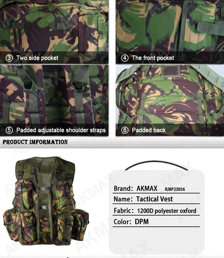 Military Plce 90 Webbing Army Dpm Camo Tactical Combat Backpack ...