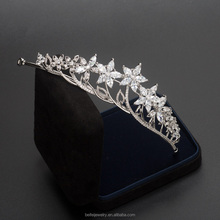 Wholesale zicon crystal bridal tiaras and crowns wedding jewelry