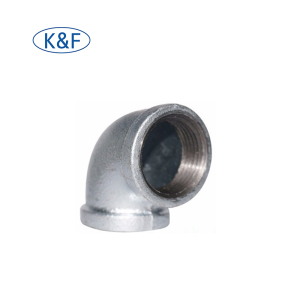 China high quality galvanized malleable iron pipe fitting 1090 90 degree plain equal elbow