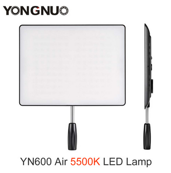 YONGNUO YN-600 Air YN600 Air Ultra Thin LED Camera Video Light Panel 5500K Photography Studio Light+Power Adapter