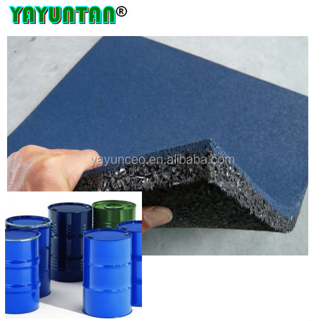 rubber floor adhesive/non yellowish PU glue for rubber mats