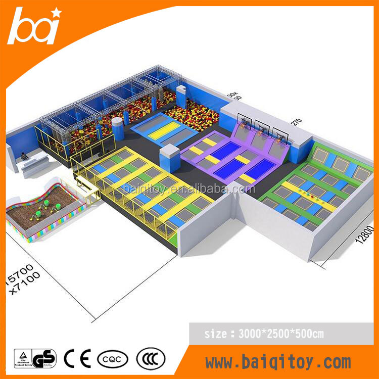 China Product Wholesale Cheap Trampoline Park for Gymnastics Equipment with Ninja Warrior
