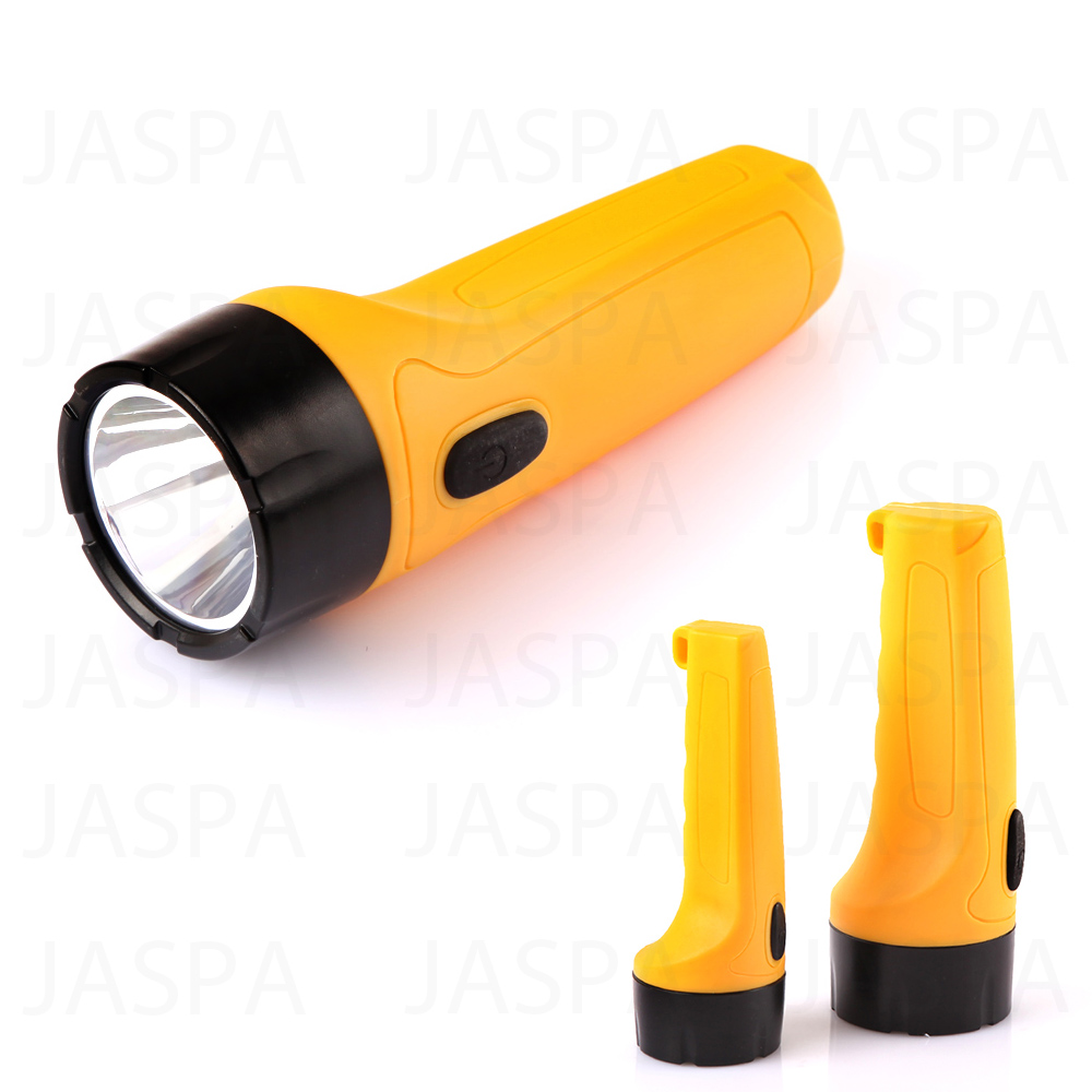 New 2D Battery Samsung 3W LED Plastic Torch Flashlight Made In China