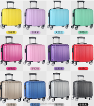 "Promotional cheap 18"" ABS+PC abs printed hard shell portable luggage suitcase"