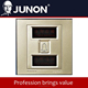 P series Light Gold Bell Switch with(Do not disturb pls clean up) electrical wall switch