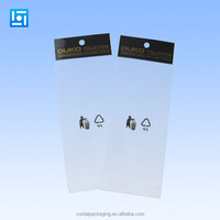 transparent plastic opp bag for mobile accessories/clear plastic opp bag for makeup