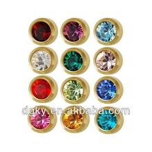 Studex Ear Piercing Studs Assorted Bezel Set Birthstones