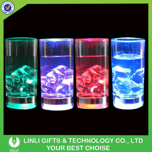 Party Supply 60ml Acryl Lighted LED Glow Shot Glass