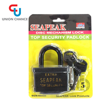 crazy cheap price new lock with master key black iron padlock