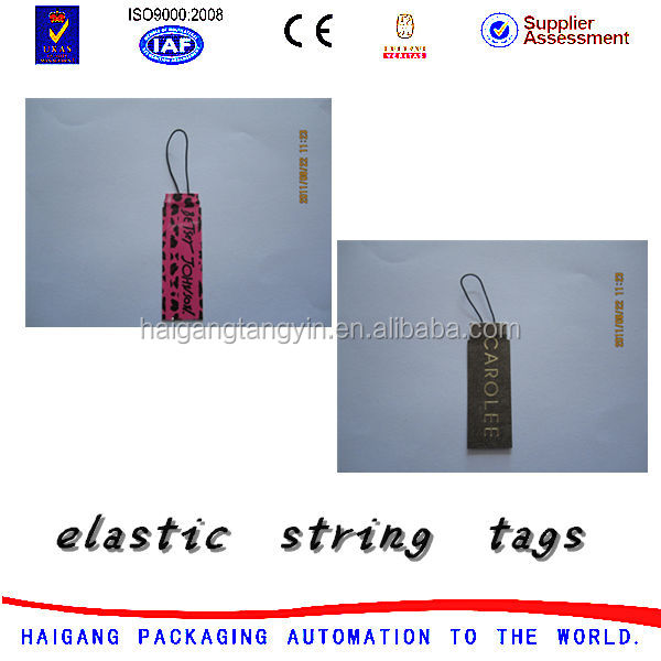Jewelry price hang tags,elastic string tags,paper tag
