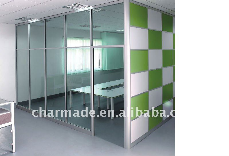 v84 series used office wall partitions clear glass
