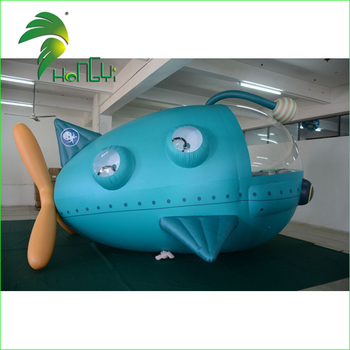 New Design Customized Air Tethered Blimp, RC Inflatable Spacecraft Zeppelin, Dirigible Airship RC With Gondola