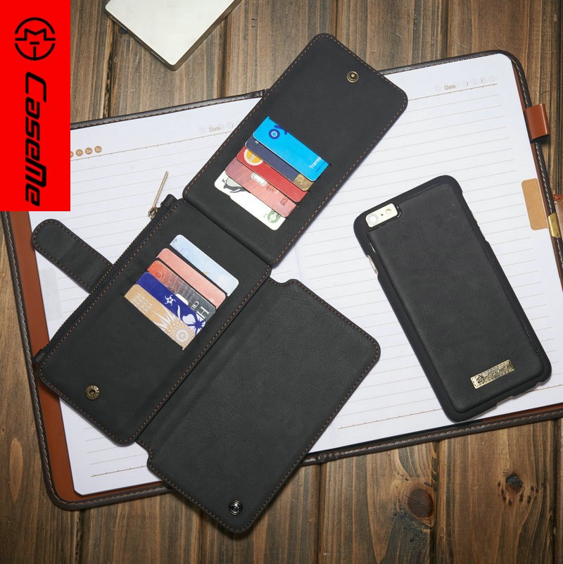 2017 For Iphone 6 Pu Leather Wallet Flip Case Cover Brown Black Blue