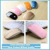 New USB Optical Wireless Mouse 2.4G Receiver Super Slim Mouse Cordless Computer PC Laptop Desktop 7 Colors