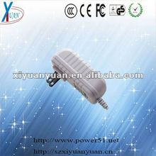 Output 15W 5V 3000ma interchangeable ac dc power adapters