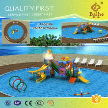 Kids swimming pool plastic double wave slide