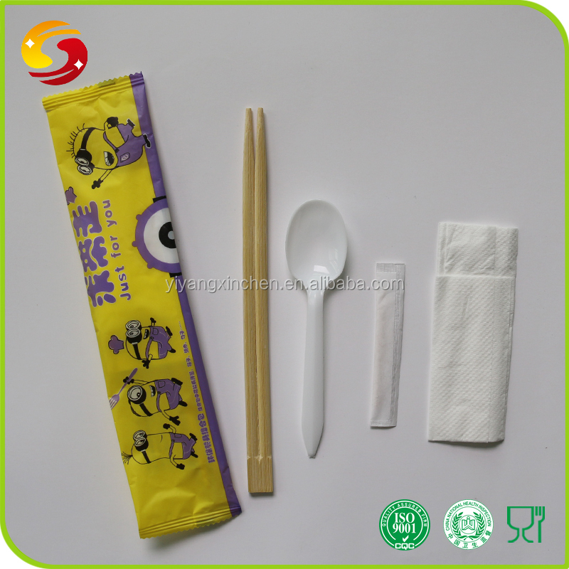Top Grade Cheap price Disposable Bamboo Chopsticks And Spoon Set With Customized Logo