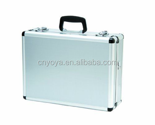 Packaging Firearm Tool Case Durable Aluminum Silver Attache Sales Kit Brief Case