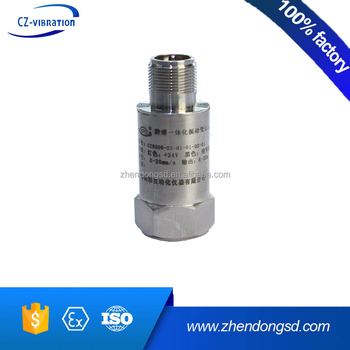 CZ9300 piezoelectric accelerometer vibration sensor with 4~20mA output