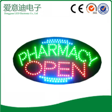 Designable My Oval Pharmacy OPEN Logo LED Signs